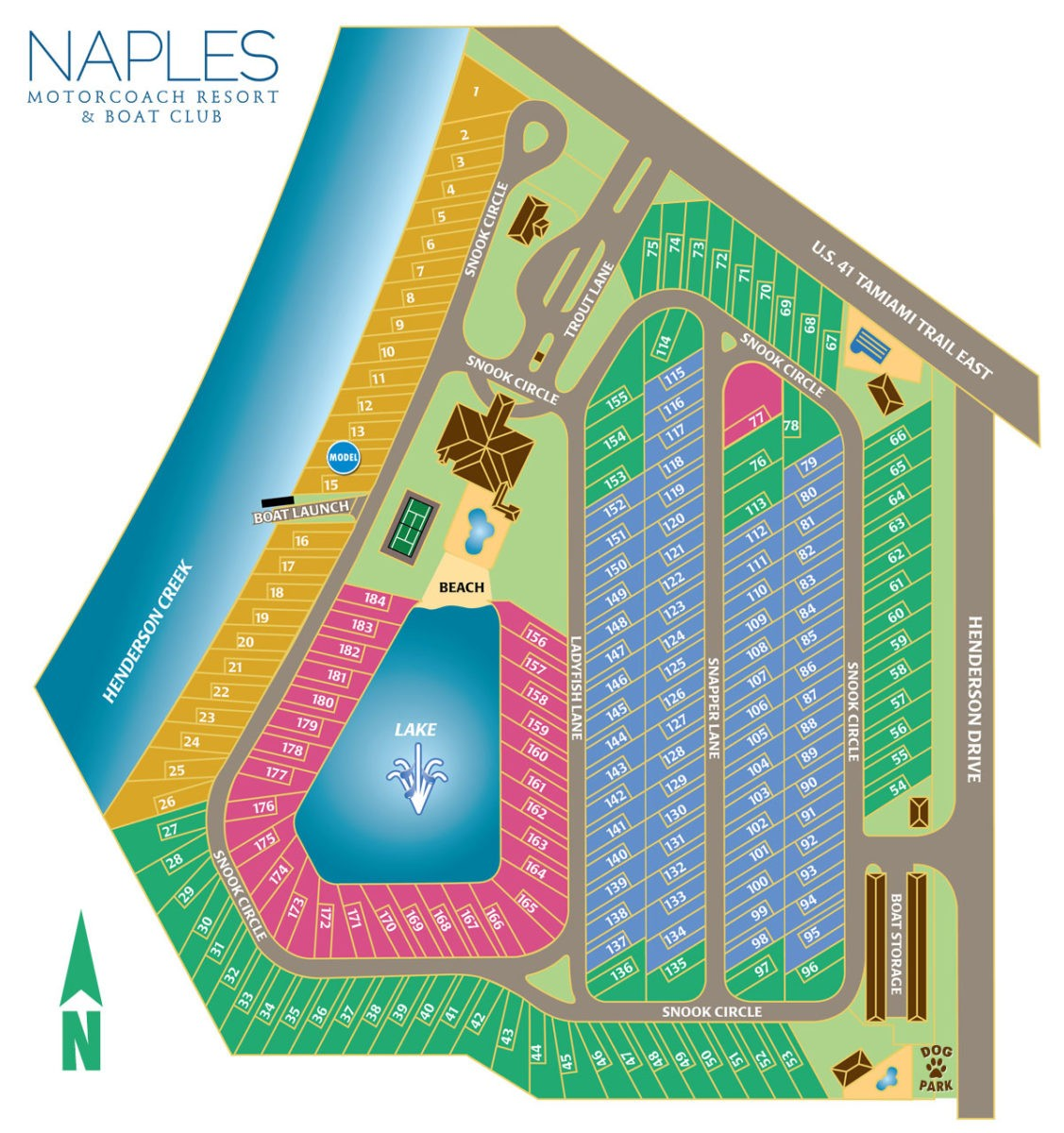 Naples Motorcoach Resort Map