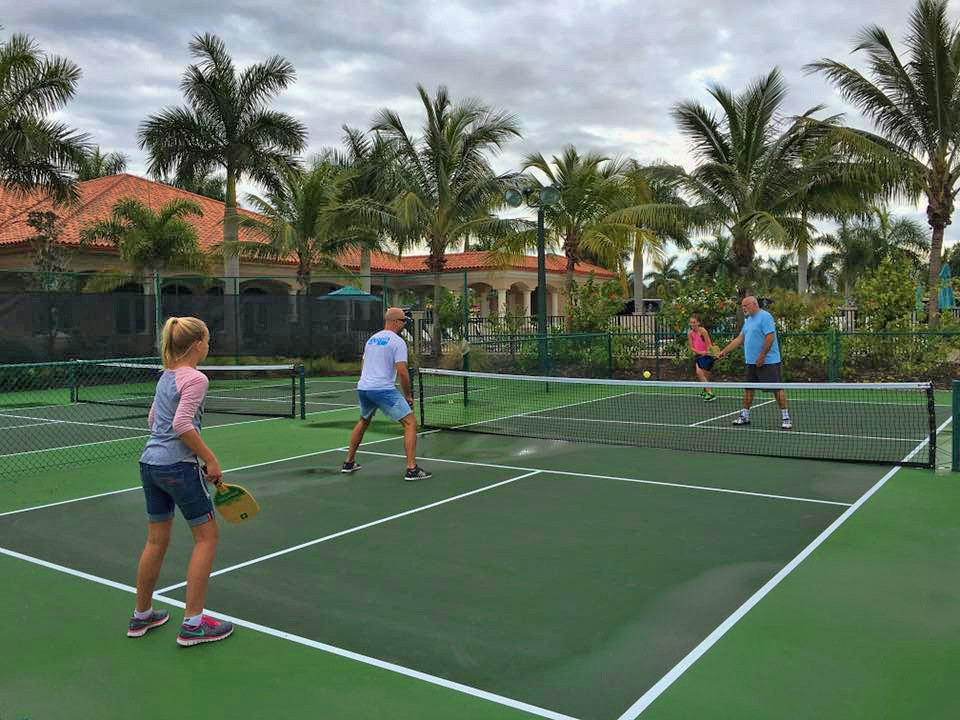 Naples Motorcoach Resort & Boat Club has 4 professional pickleball courts for the guest to enjoy.