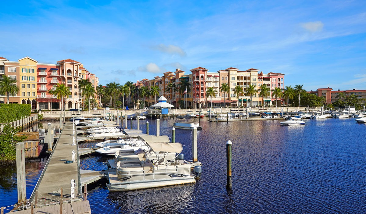 Naples Bay Marina In Florida