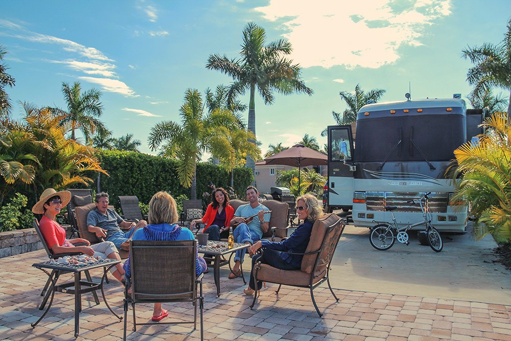 Enjoy your friends at Naples Motorcoach Resort & Boat Club