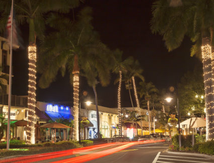 Historic Downtown Shopping District In Naples, Florida