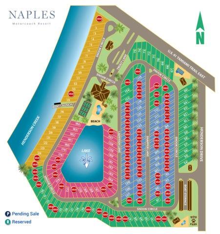View Naples Motorcoach Resort map