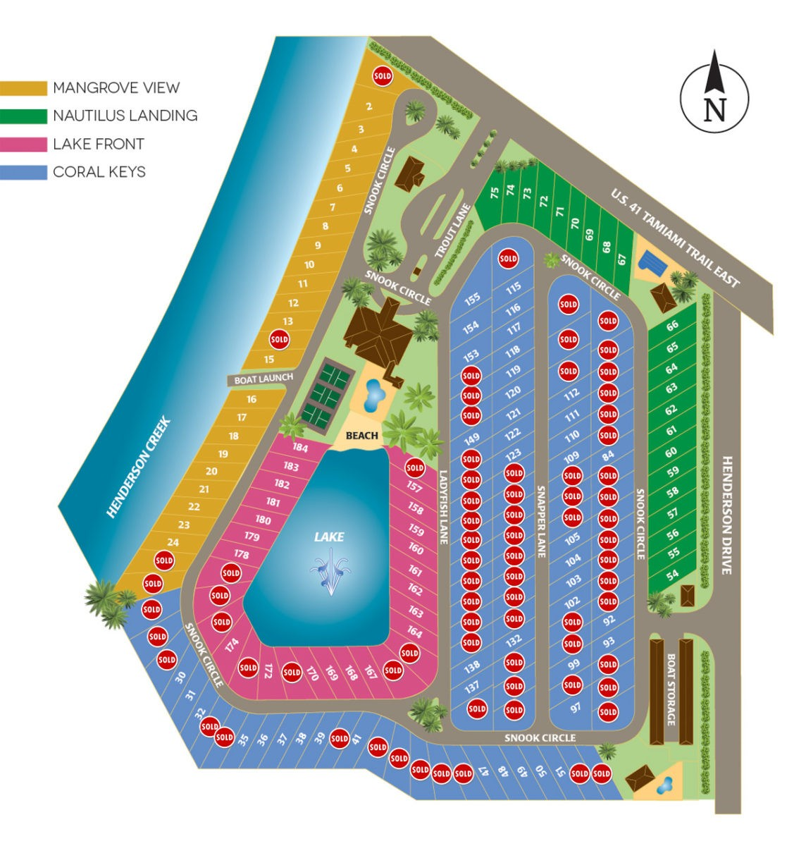 Naples Motorcoach Resort Site Map